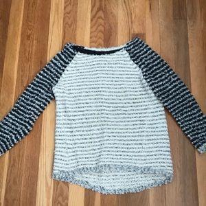 Loft Gray stripe sweater